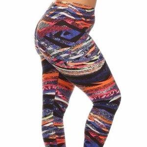 Pants - Colorful soft plus size leggings